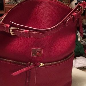 Dooney and Bourke large leather red purse